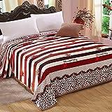 shinemoon Home Warm Fleece Tagesdecke Sterne/Streifen Muster Kinder Bettwäsche Decken Bett Sofa Tabelle Bezüge für kalte Tage, 100 % Polyester, Stars/Stripes Pattern, 180x200cm