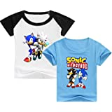 SUPFANS Sonic - Camiseta de manga corta para niños (2 unidades)