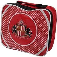 Preisvergleich für Kinder Lunch-Box / Lunch-Tasche / Brotzeit-Tasche mit Sunderland AFC Design, isoliert (Einheitsgröße) (Rot/Weiß/Schwarz)