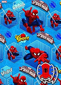 Disney Marvel Spider Man 2x Gift Wrap Sheets and 2x Gift Tags