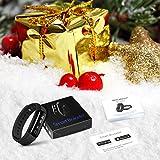 Fitness Tracker, Mpow IP68 Wasserdichte Smart Fitness Armbänder mit Pulsmesser, OLED Bildschirm Herzfrequenz Monitor Schwimmsportuhr Aktivitätstracker Podometer für Android iOS Smartphones z.B. iPhone 7/7 Plus/6S/6/5/5S, Samsung S8/S7, Huawei, LG, Sony, schwarz - 7