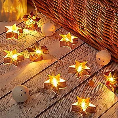 BINSENI-LED-Lichterketten-20-LEDs-3M-Lichterketten-Star-Lights-fr-dekorative-Balkone-Schlafzimmer-Termine-Weihnachten-USB-Stil-warmwei