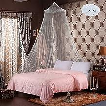 RETON 2 Pcs Jumbo Mosquito Net elegante cama de encaje con dos ganchos, Queen Size