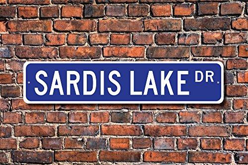 Mississippi Street Sign (Sardes Lake Schild Mississippi Lake Sardes Lake Besucher Sardes Lake Geschenk Lake Lover Art Wand Schild DEKO Post Street Sign 45x 10cm)