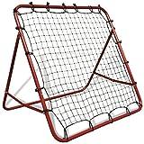 Festnight Einstellbar Fußballtornetz 100 x 100 cm Fußball-Rückschlagtor