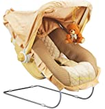 Goyal's 12 in 1 Premium Musical Baby Feeding Swing Rocker Carry Cot Cum Bouncer with Mosquito Net and Storage Box (Brown…