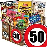 Geschenk zum 50. Geburtstag | Schokolade Geschenk Set | GRATIS DDR Kochbuch | Schokoladen Geschenke