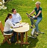 Fahrrad-Heimtrainer X-Bike Fitnessbike, mit Trainingscomputer und Handpulssensoren, klappbar, belastbar bis 100kg, Silber - 9