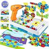 yoptote Juguetes Montessori Puzzles 3D Mosaicos Infantiles Juguetes Educativos con Taladro...