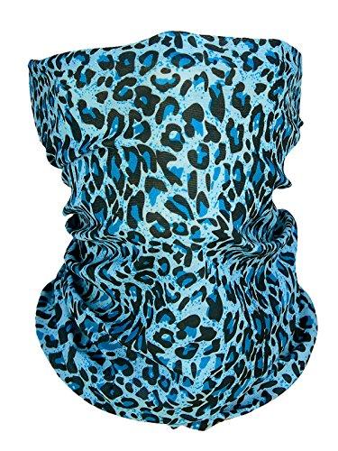 memego - Fular - para mujer azul y negro Talla única