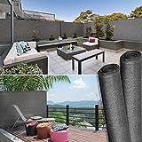 IDMarket - Brise Vue Haute densité 1,2 x 10 m Gris 300 GR/m² qualité Pro