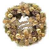 Weihnachts Goldene kranz Weihnachts blume Tür Hängende Verzierung Für Hausdekoration Garten Dekoration Weihnachts Dekoration