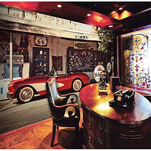 Tapeten Wandbild Hintergrundbild FototapeteTapeten Restaurant Café Bar Hintergrund Retro Nostalgie Oldtimer Großes Wandbild 3D Tapete Papel De Parede, 400 * 280 Cm -