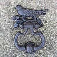 Chyuanhua - Tirador de Puerta de Hierro Fundido Vintage con Forma de pájaro, Hierro Fundido, Envejecido, Talla única