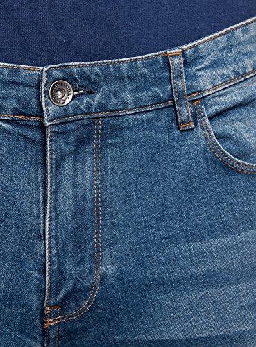 oodji Ultra Herren Jeans Slim Fit Basic Blau (7400W)