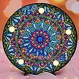 Kit de pintura de diamantes 5D para bricolaje, luz nocturna LED con cristales de diamante de imitación, lámpara de noche bordada, mosaico, pintura por números
