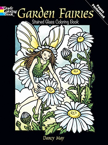 Garden Fairies Stained Glass Coloring Book (Dover Pictorial Archives) -