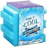 Oicepack Ice Packs (10pezzi), Cool Pack per lunch box, freezer Packs per borse e Coolers, borsa del ghiaccio riutilizzabile, durevole sottile freezer Ice Packs, Ice packs-great per Coolers, Ice Cube blu