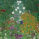 Artland Qualitätsbilder I Bild auf Leinwand Leinwandbilder Wandbilder 70 x 70 cm Blumenwiese Malerei Grün D3HN Bauerngarten -07