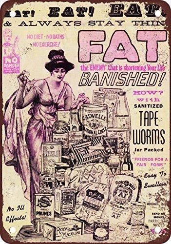 1926-tapeworms-to-make-you-sottile-stile-vintage-riproduzione-in-metallo-tin-sign-203-x-305-cm