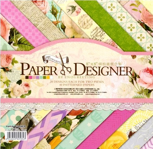 Set of 40 Thick Beautiful Pattern Design Printed Papers for Art n Craft, Size: 8x 8 Inch ? 20 Unique