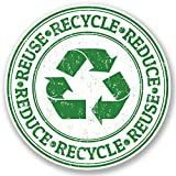 2x 10cm symbole de recyclage sticker en vinyle pour ordinateur portable iPad Poubelle Bureau environnement # 5254 - 10cm x 10cm...