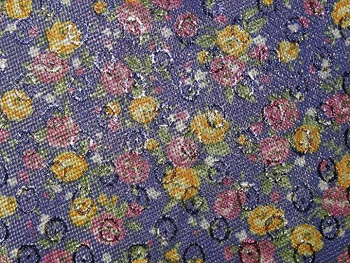 Minerva Crafts Floral Weave Lurex Brokat Kleid Stoff Blau – Meterware (Blau Brokat-kleid)