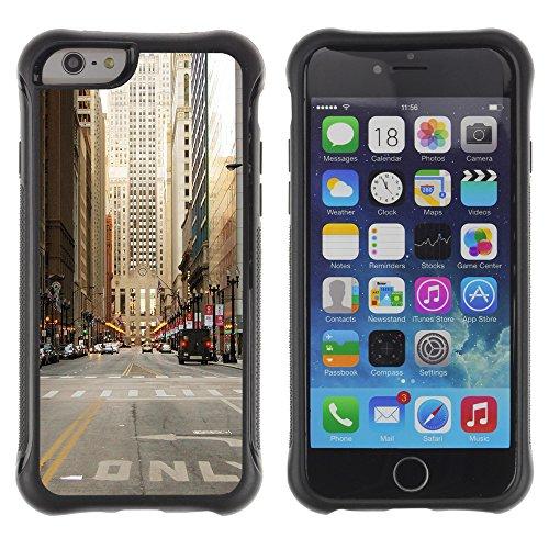 Graphic4You Brooklyn Bridge New York Postkarte Ansichtskarte Design Shockproof Anti-Rutsch Weichen Hülle Case Tasche Schutzhülle für Apple iPhone 6 Plus / 6S Plus Design #6