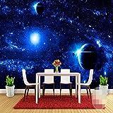 LONGYUCHEN Kundenspezifisches Seidenes Fototapete Sternenklares Himmelmuster Galaxie-Planeten 3D Passend Für Schlafzimmer Wohnzimmer Fernsehhintergrundwand-Dekorationswandgemälde,150Cm(H)×240Cm(W)