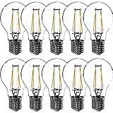 10 x LED Filament Leuchtmittel Birnenform 7W = 60W E27 klar 806lm warmweiß 2700K DIMMBAR