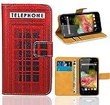 Wiko Rainbow 3G / 4G Housse Coque, FoneExpert Etui Housse Coque en Cuir Portefeuille Wallet Case Cover pour Wiko Rainbow 3G / 4G