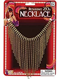 Women's Moulin Rogue Fancy Dress Halloween Party Roaring 20s Necklace Flapper