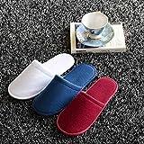 1 par de zapatillas de viajes del hotel zapatillas desechables casa de huéspedes descripción: Material: lana polar color: blanco, rojo de la rosa, rojo, azul tamaño: 28x11cm / 11''x4'' espesor: 0.7 cm / 0.28'' peso: 60 g característica: cómodo y suav...