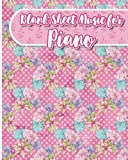 Blank Sheet Music for Piano: Blank Music Score Sheet / Blank Staff Paper Book / Blank Staff Paper for Music - Hydrangea Flower Cover: Volume 30