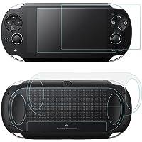 AFUNTA Protezioni dello Schermo per Sony Playstation Vita 1000, 2 Pack (4 Pezzi) Vetro temprato per Schermo Frontale e…