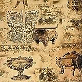 Retro Nostalgie industriellen Wind, alte Tapete, Bronze Tasse, Ausstellungshalle, Museum, Tapete, Teehaus, Y, Zweihundertdreiundachtzigtausend und einundsiebzig, nur Tapete