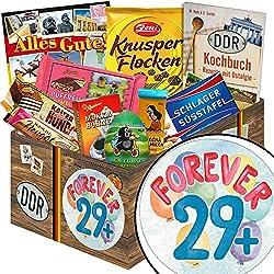 Forever 29 + | Schokolade Set | Geschenk Korb | Forever 29 + | Schokoladenset | Geburtstag 30 Geschenk | mit Kalter Hund + Kalte Schnauze Blister, Mokka Bohnen und mehr