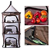 Pieghevole mesh Cloth Hanging Holder Storage Bag 4 strati appeso a rete portaoggetti per outdoor campeggio pieghevole a secco netto mensola picnic stoviglie