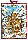 Advent in der Lebkuchenhaus Extra große traditionelle Deutsche Adventskalender 52cm breit x 38cm, Glitter irisierend