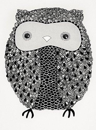 oodji Ultra Femme Sweat à Imprimé «Hibou» Blanc (1229P)