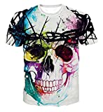 Dream Garden 3D Print Pattern Men Fashion Short Sleeve O-Neck Top Tee Shirt (UK L, H)