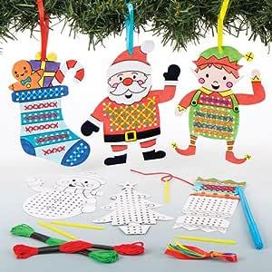 Bastelsets für Kreuzstich-Anhänger Weihnachten für Kinder