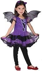 Hunpta Kleinkind Kinder Baby Mädchen Halloween Kleidung Kostüm Kleid Haarband und Fledermaus Flügel Outfit