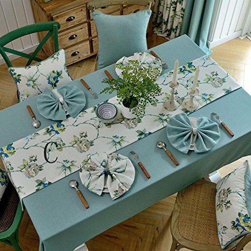 Grün Rustikalen Esstisch (ADDMAT® Moderne Einfach Fluid Systems Landschaft Kleine Frische Ab Oberfläche Tischdecken Esstisch Teetisch Grün Blau Grau , 30*180)