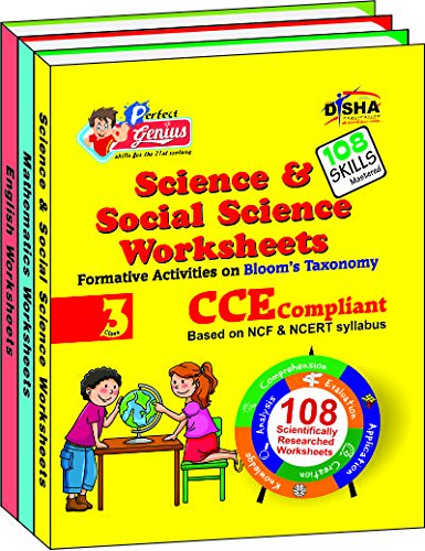 Perfect Genius - English / Mathematics / Science & Social Science Worksheets (Class 3) : Formative Activities on Blooms Taxonomy (Set of 3 Books) (English) 2nd  Edition price comparison at Flipkart, Amazon, Crossword, Uread, Bookadda, Landmark, Homeshop18