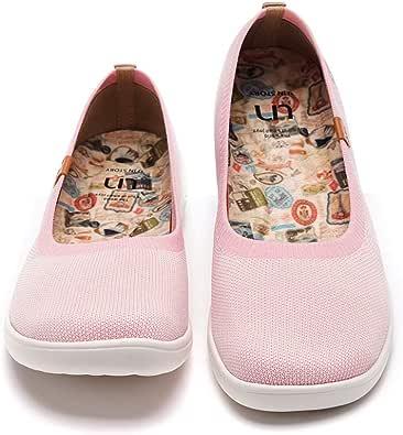 UIN Ballerine Donna,Espadrillas Basse Scarpe Ginnastica a Maglia Slip on Mocassini Sneakers Dipinta a Mano
