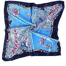 Ymysfit Femmes Petit Foulard Carré En Soie pour Vêtement Décoration 031d14e707d