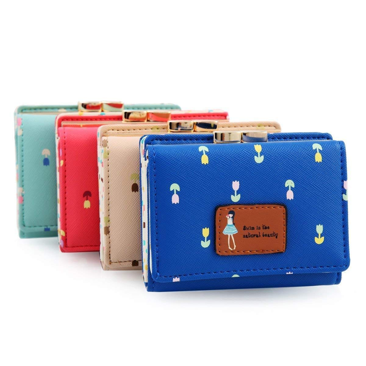 Home   Clothing and Accessories   Women   Handbags   MOCA s Cute (Lil  Tulip s) Portable Short Handy Womens Wallet Small Clutch Wallet Hand ... e7e370338b4e7