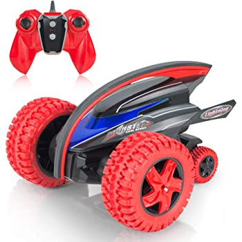 MaxTronic Remote Control Car, 2.4Ghz High Speed Rc Car Large Front Wheel Dual Motor Off Road Racing Vehicle, 360°Flips, Jump, LED Flashing Tail Light Truck