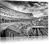 Kolosseum in Rom schwarz/weiß Format: 100x70 auf Leinwand, XXL riesige Bilder fertig gerahmt mit Keilrahmen, Kunstdruck auf Wandbild mit Rahmen, günstiger als Gemälde oder Ölbild, kein Poster oder Plakat